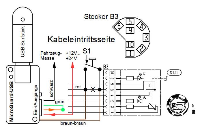 Schematischer Anschluss an Eberspächer D8LC