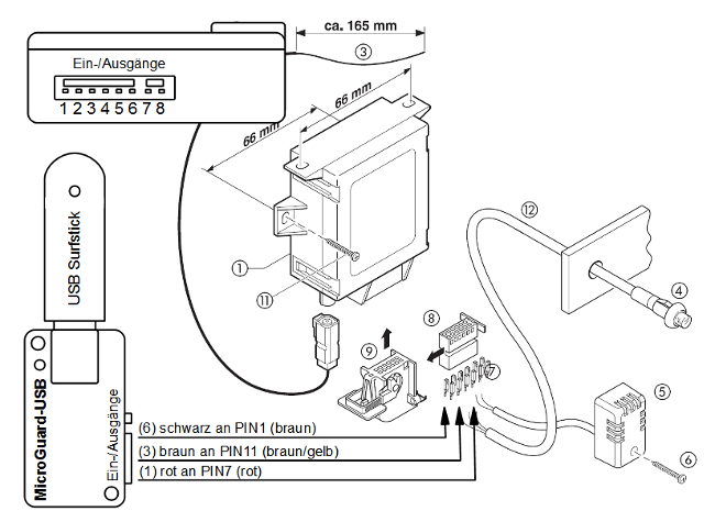 handy fernbedienung f r ebersp cher erasy start r microguard produkte. Black Bedroom Furniture Sets. Home Design Ideas