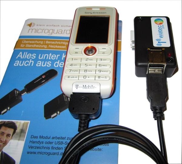 MicroGuard-USB mit SonyEricsson und Datenkabel