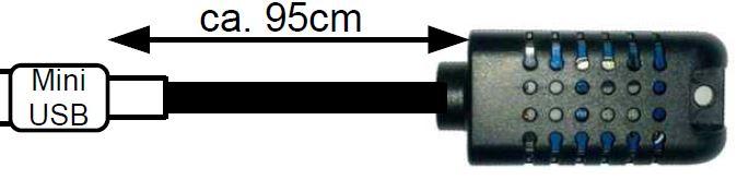 Feuchtigkeits- und Temperatursensor für MicroGuard-USB